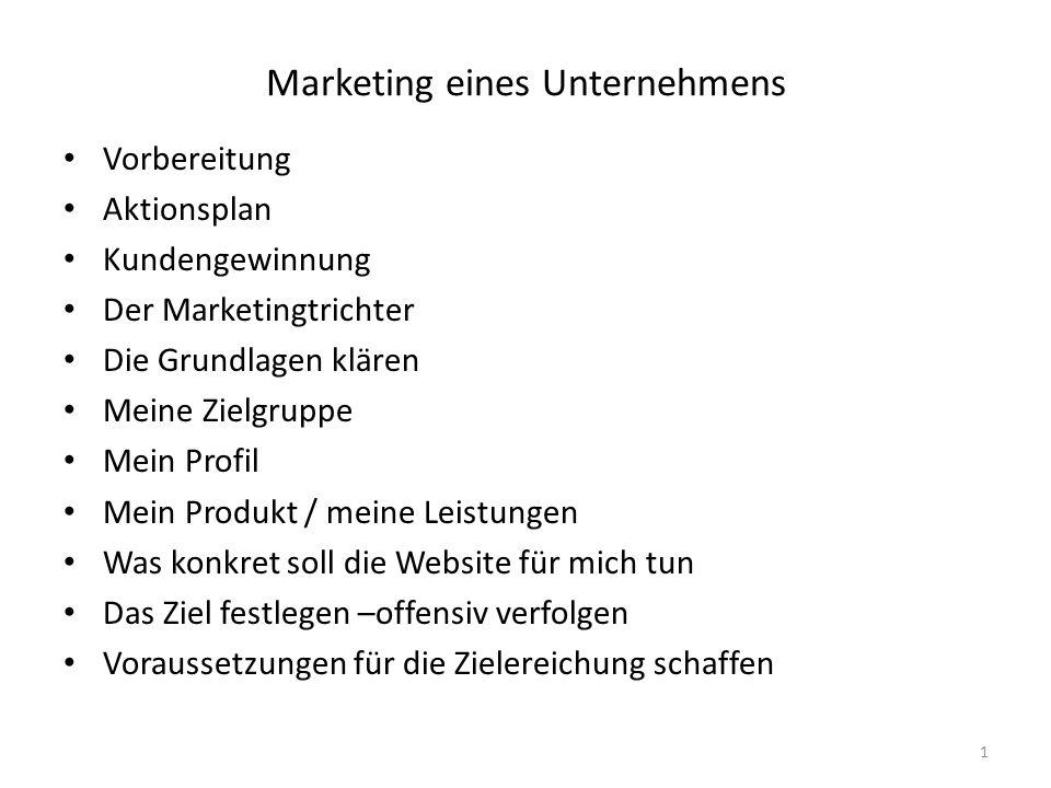 Marketing eines Unternehmens