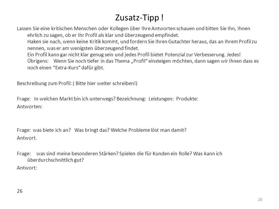 Zusatz-Tipp !