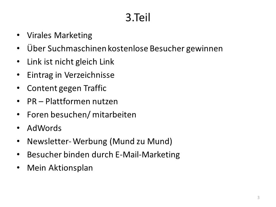 3.Teil Virales Marketing