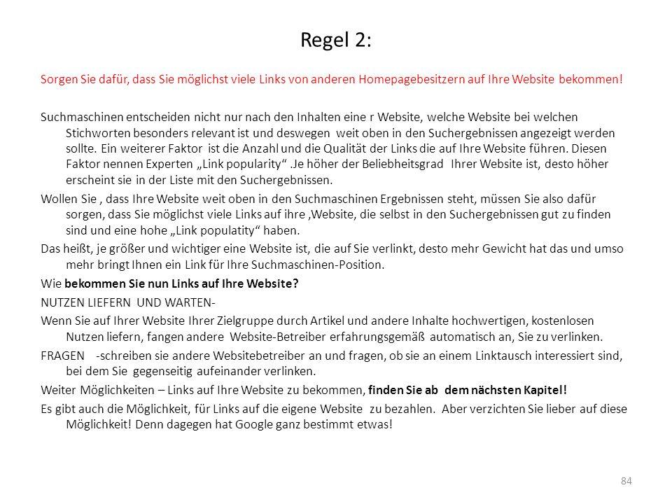 Regel 2: