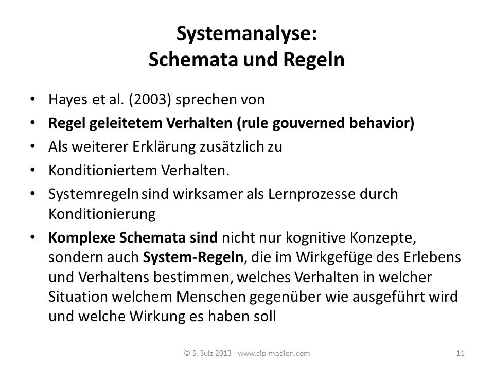 Systemanalyse: Schemata und Regeln