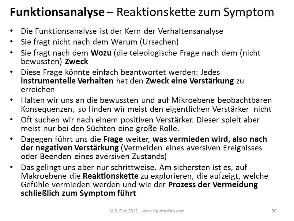 Funktionsanalyse – Reaktionskette zum Symptom