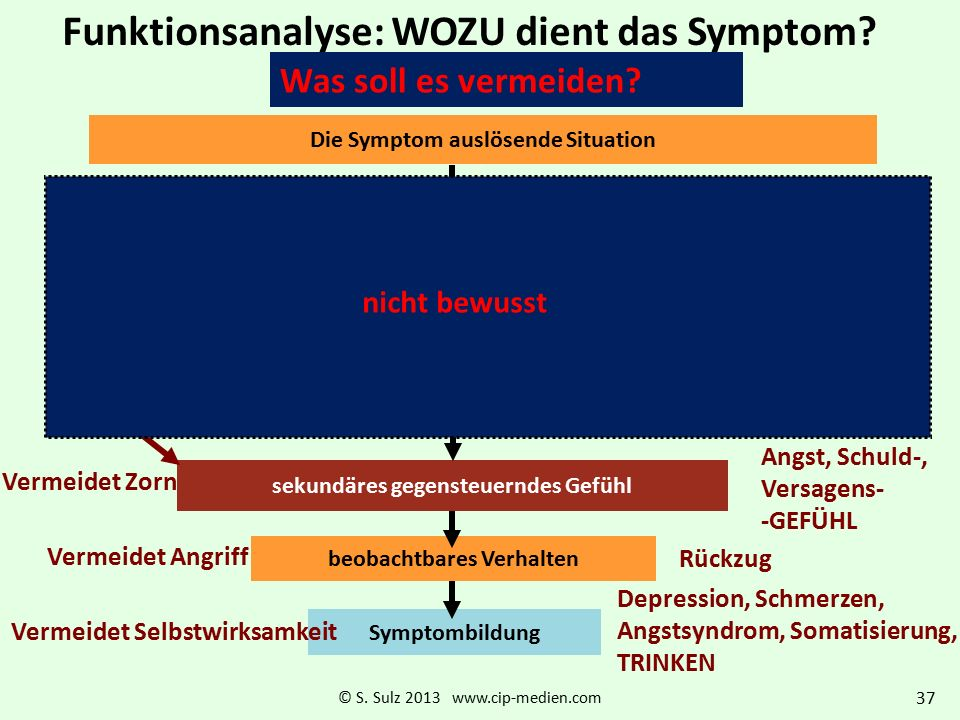 Funktionsanalyse: WOZU dient das Symptom