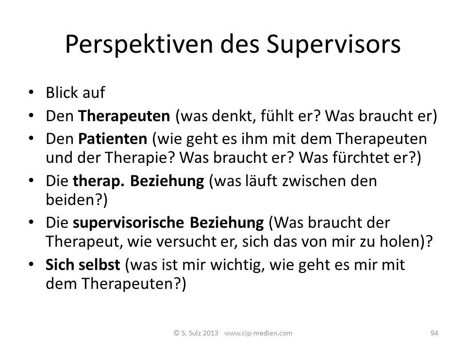 Perspektiven des Supervisors