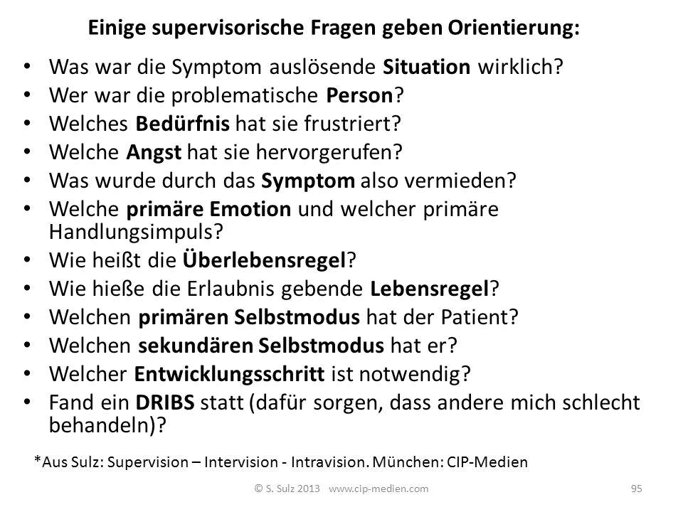 Einige supervisorische Fragen geben Orientierung: