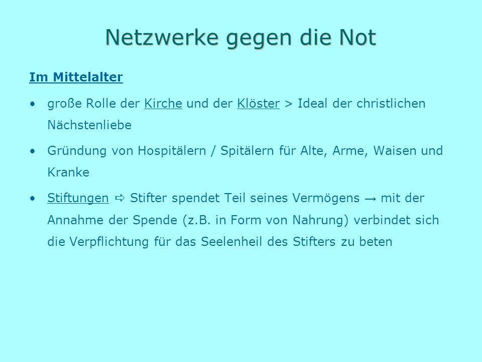 Netzwerke gegen die Not
