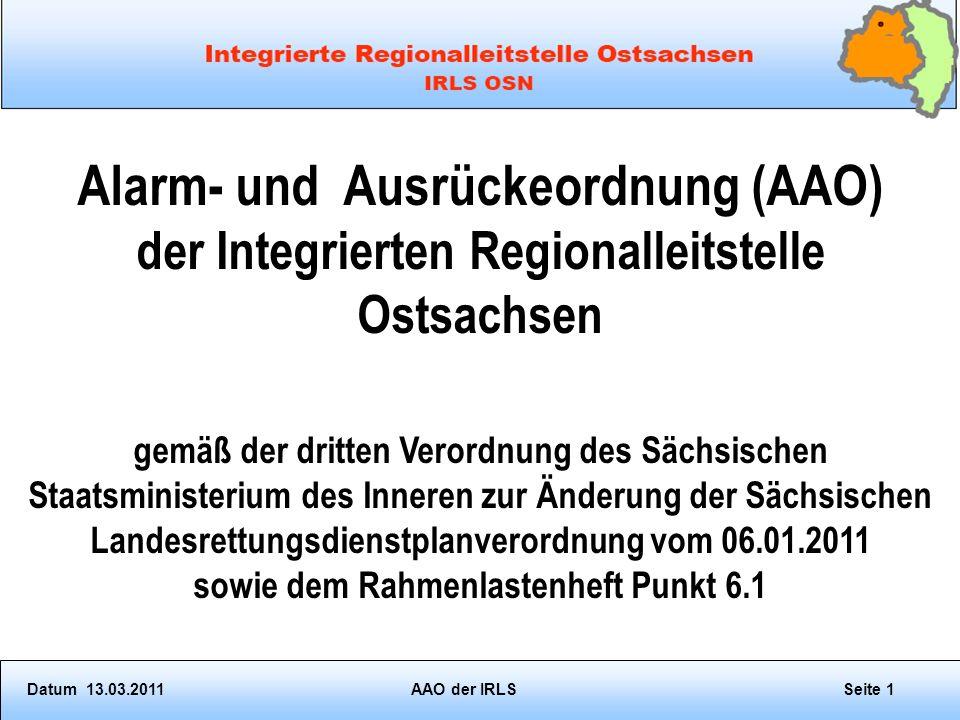 Alarm- und Ausrückeordnung (AAO)