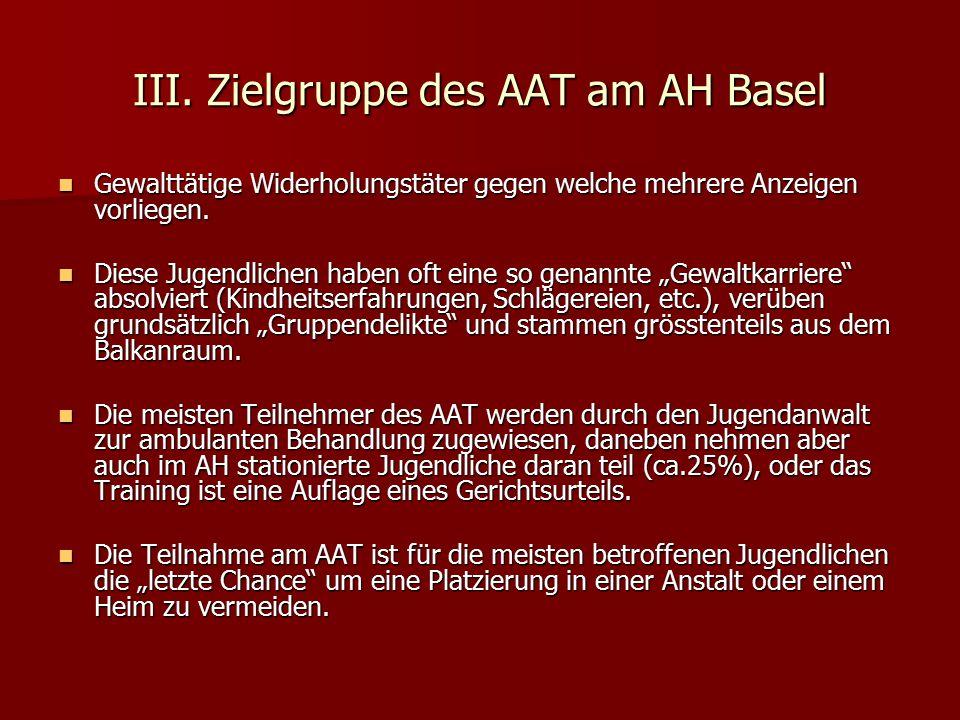 III. Zielgruppe des AAT am AH Basel