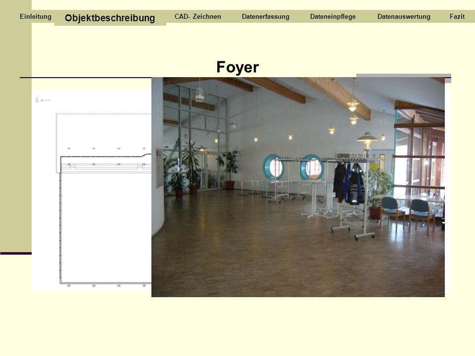 Foyer Objektbeschreibung CAD- Zeichnen Datenerfassung Dateneinpflege