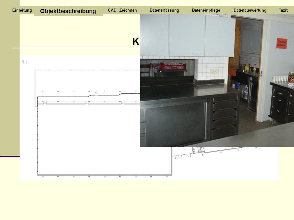 Küche Objektbeschreibung CAD- Zeichnen Datenerfassung Dateneinpflege