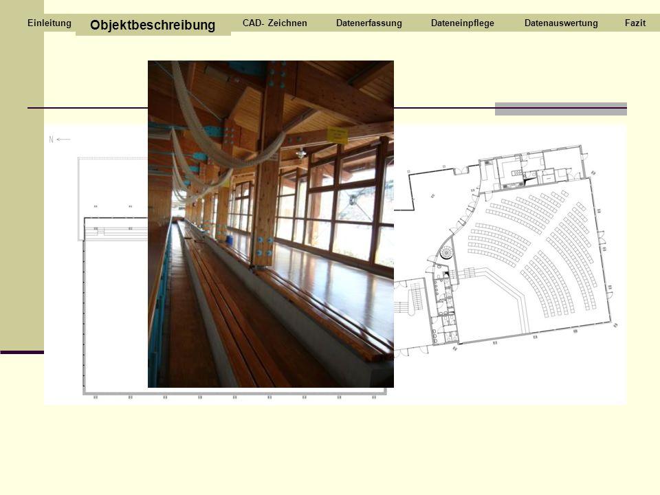 Tribüne Objektbeschreibung CAD- Zeichnen Datenerfassung Dateneinpflege