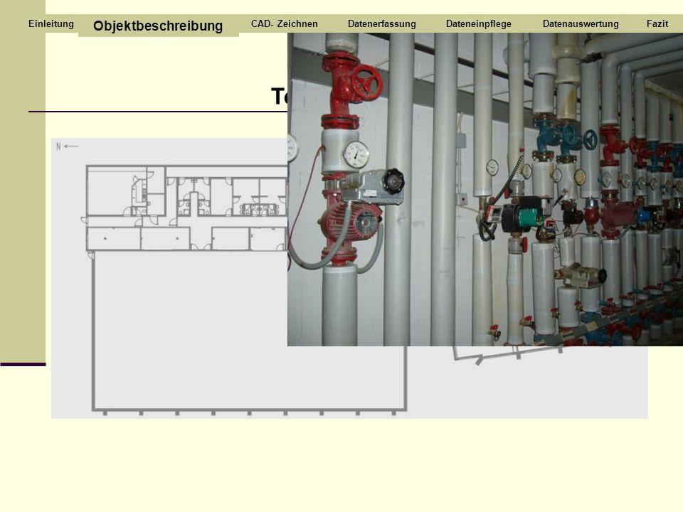 Technikraum Objektbeschreibung CAD- Zeichnen Datenerfassung