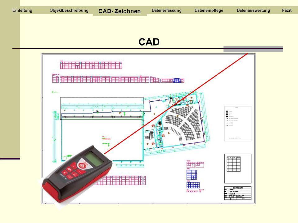 CAD CAD- Zeichnen Objektbeschreibung Datenerfassung Dateneinpflege