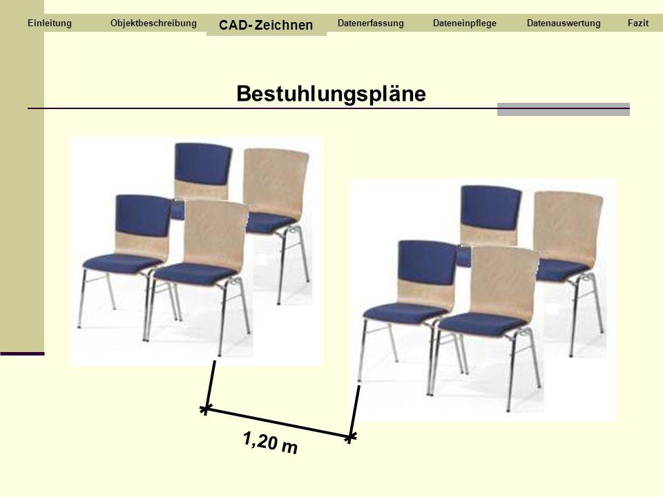 Bestuhlungspläne 1,20 m CAD- Zeichnen Objektbeschreibung