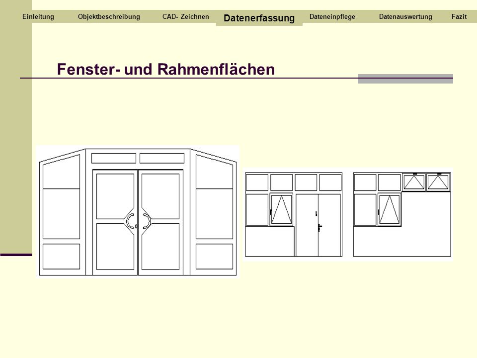 Fenster- und Rahmenflächen