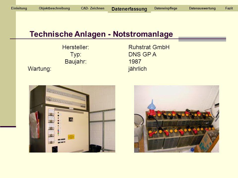 Technische Anlagen - Notstromanlage