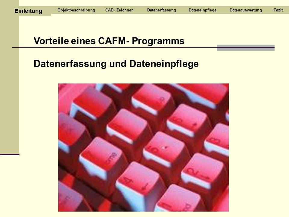 Vorteile eines CAFM- Programms