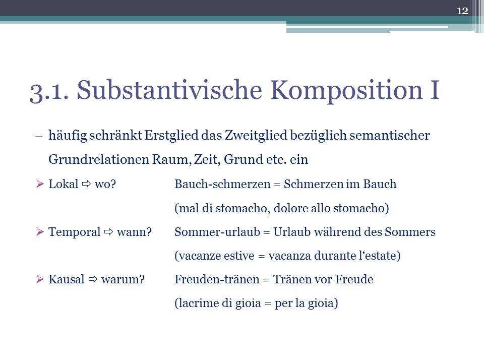 3.1. Substantivische Komposition I