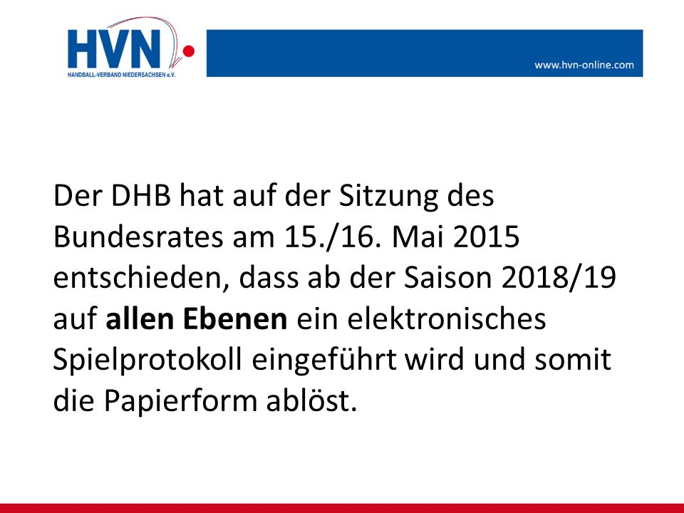 Der DHB hat auf der Sitzung des Bundesrates am 15. /16