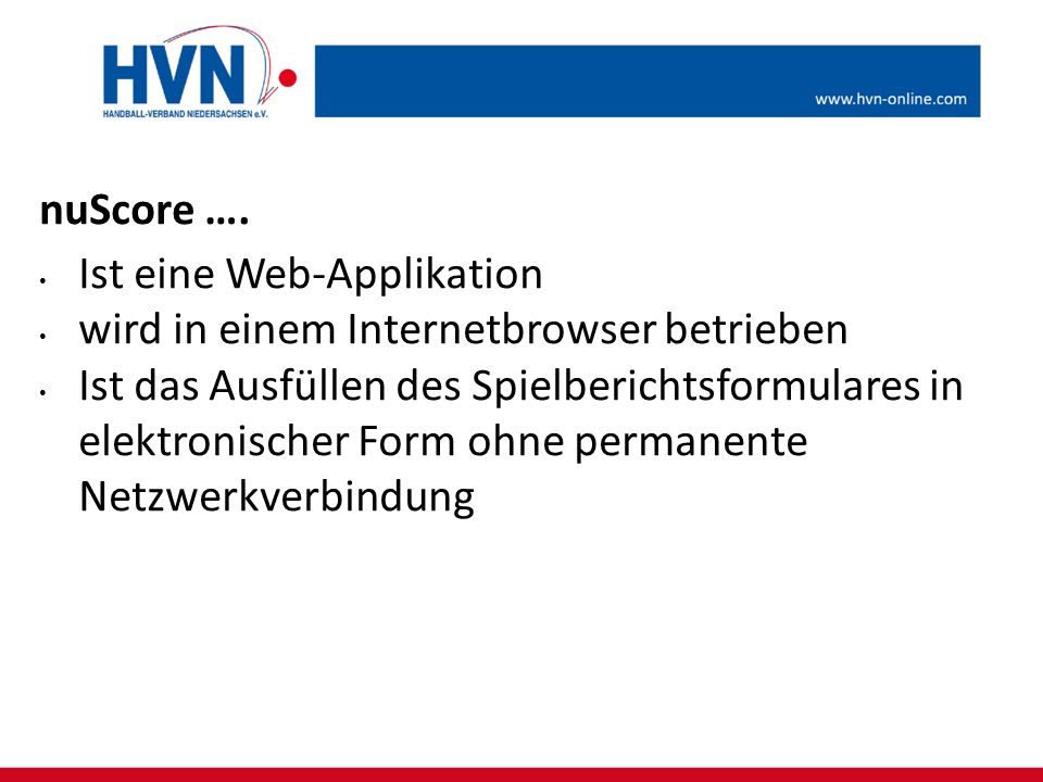 nuScore …. Ist eine Web-Applikation. wird in einem Internetbrowser betrieben.