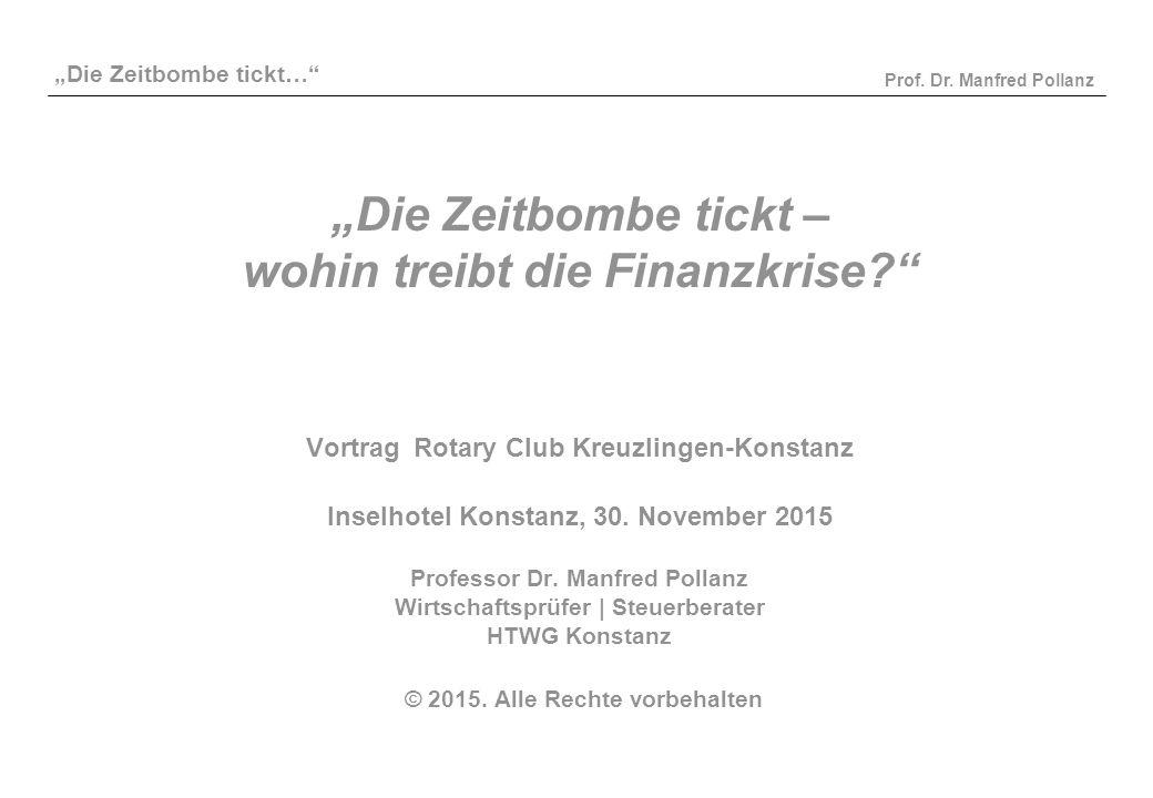 """""""Die Zeitbombe tickt – wohin treibt die Finanzkrise"""