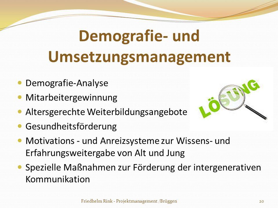 Demografie- und Umsetzungsmanagement