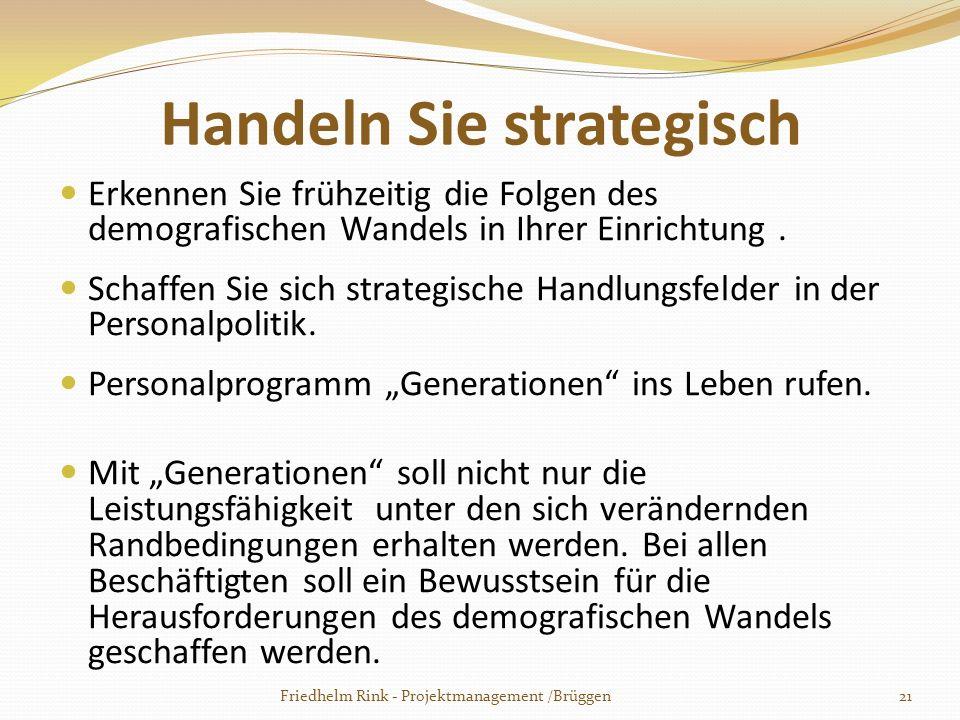 Handeln Sie strategisch