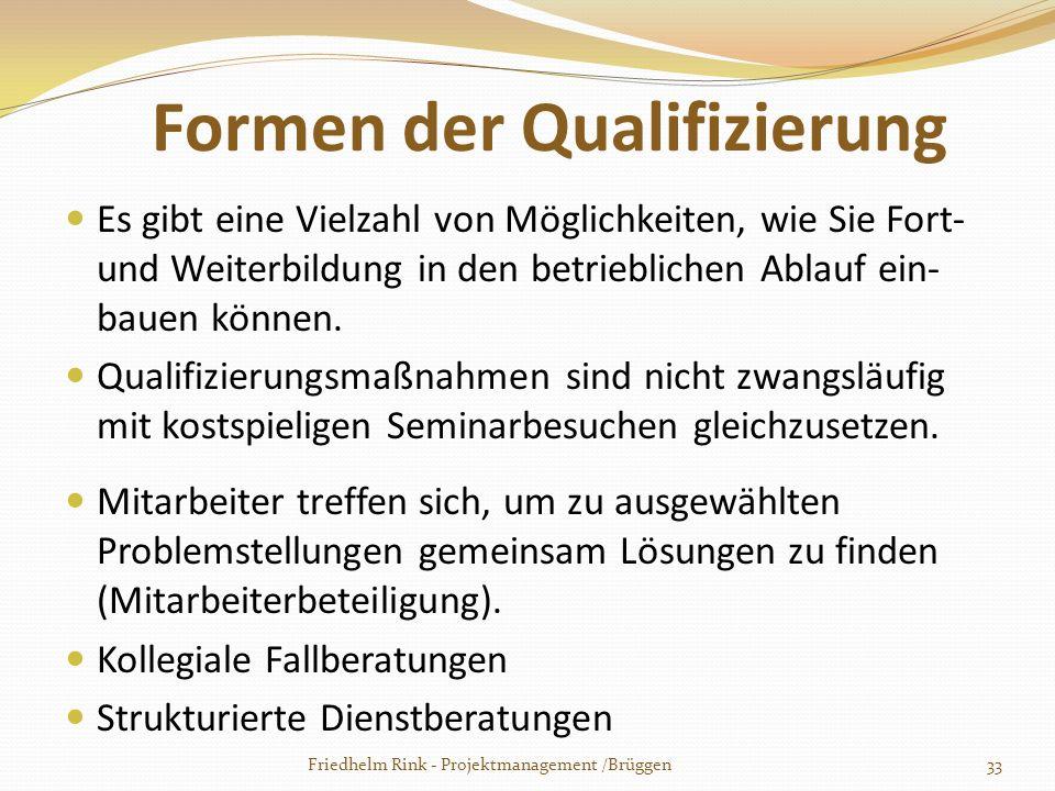 Formen der Qualifizierung
