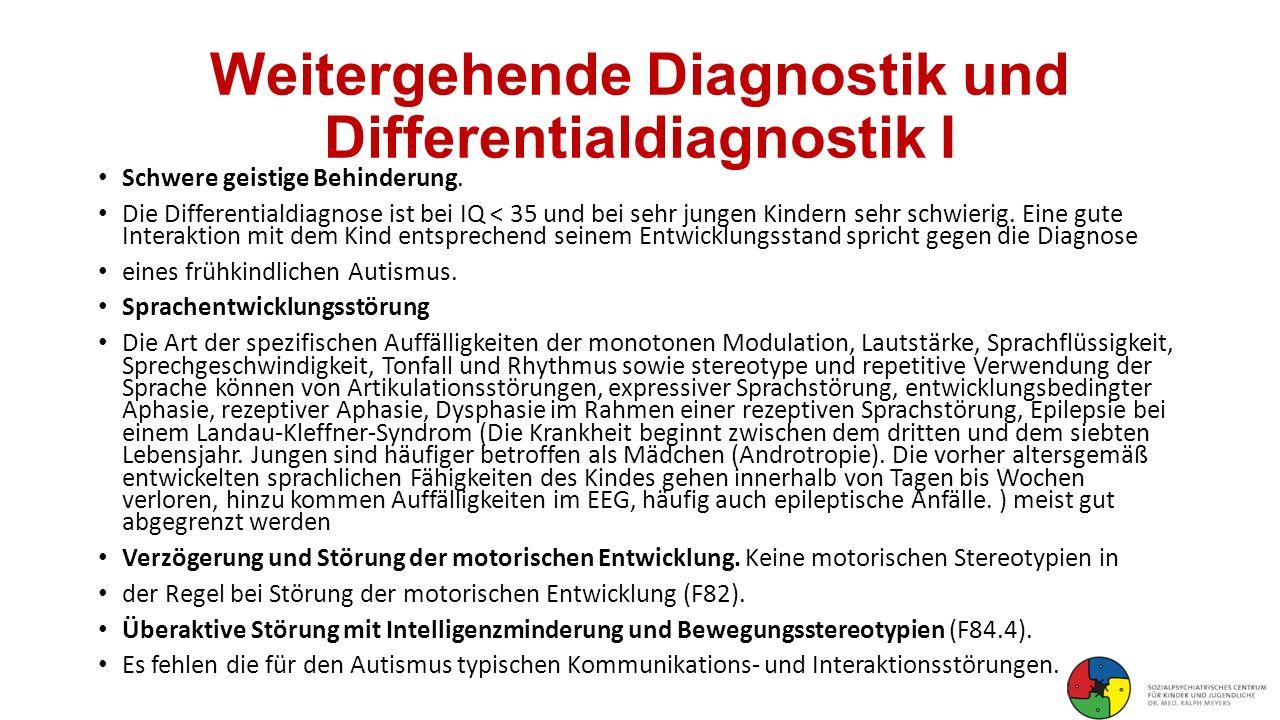 Weitergehende Diagnostik und Differentialdiagnostik I
