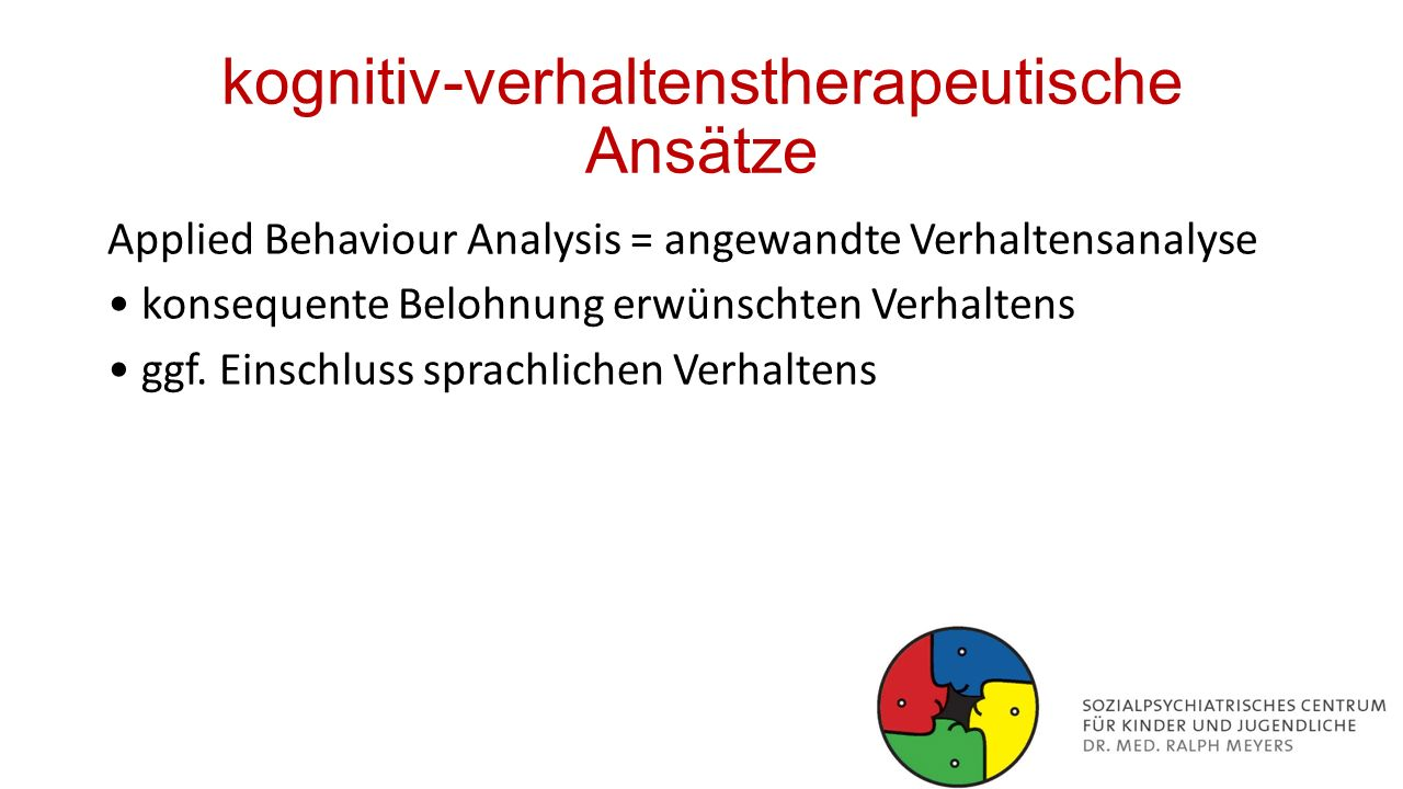 kognitiv-verhaltenstherapeutische Ansätze