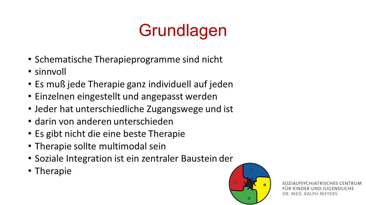 Grundlagen Schematische Therapieprogramme sind nicht sinnvoll