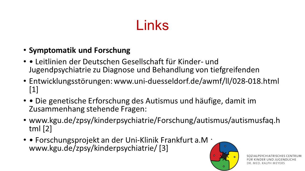 Links Symptomatik und Forschung