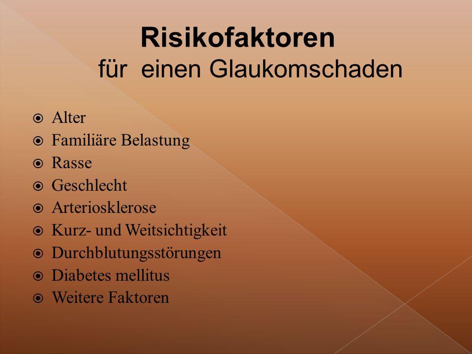 Risikofaktoren für einen Glaukomschaden