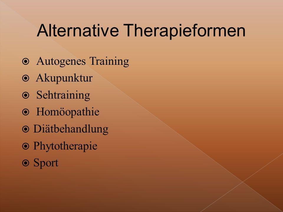 Alternative Therapieformen