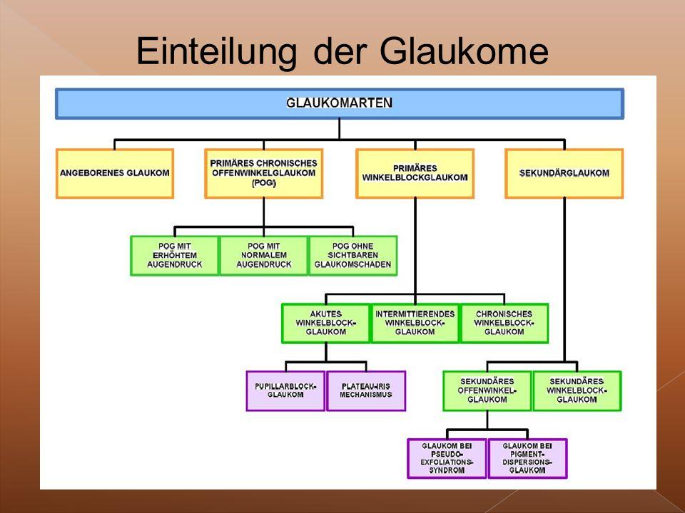 Einteilung der Glaukome