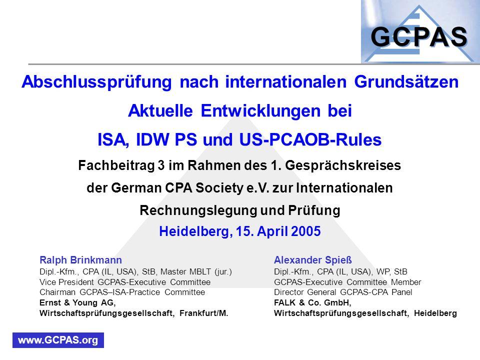 Abschlussprüfung nach internationalen Grundsätzen