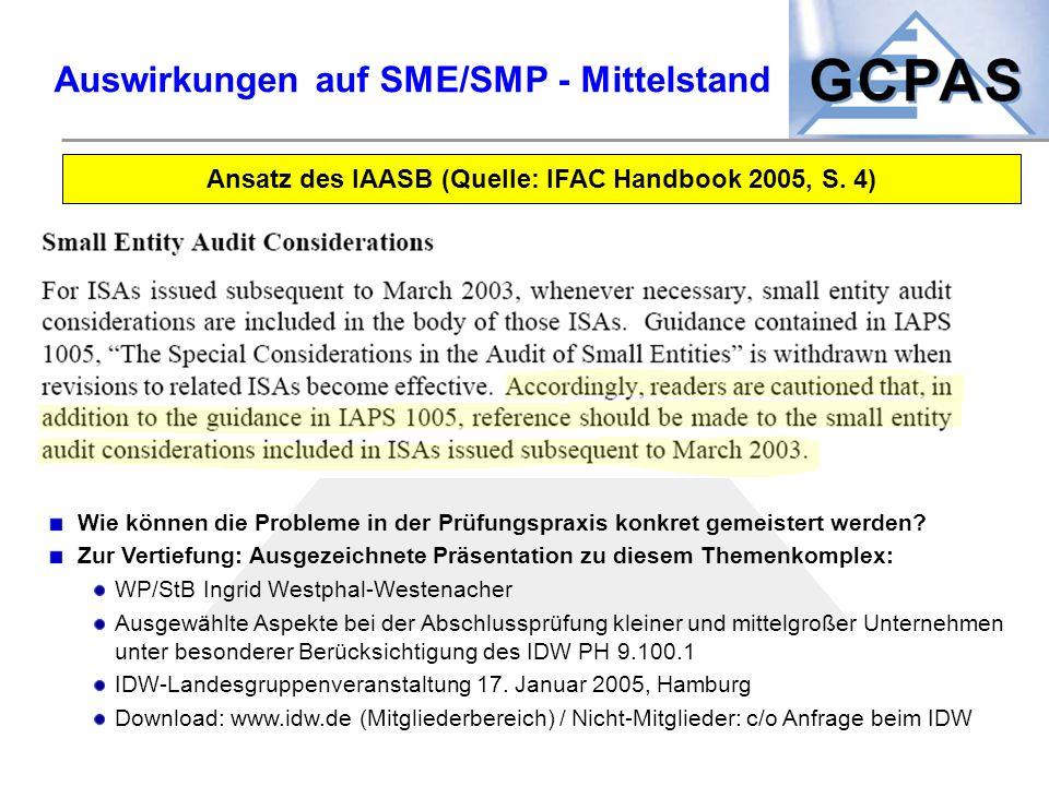 Auswirkungen auf SME/SMP - Mittelstand