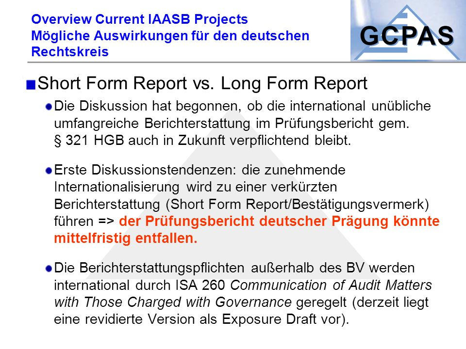 Short Form Report vs. Long Form Report