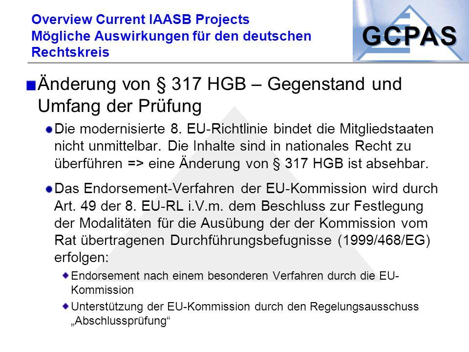 Änderung von § 317 HGB – Gegenstand und Umfang der Prüfung