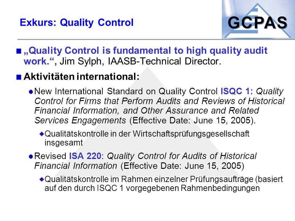 Exkurs: Quality Control