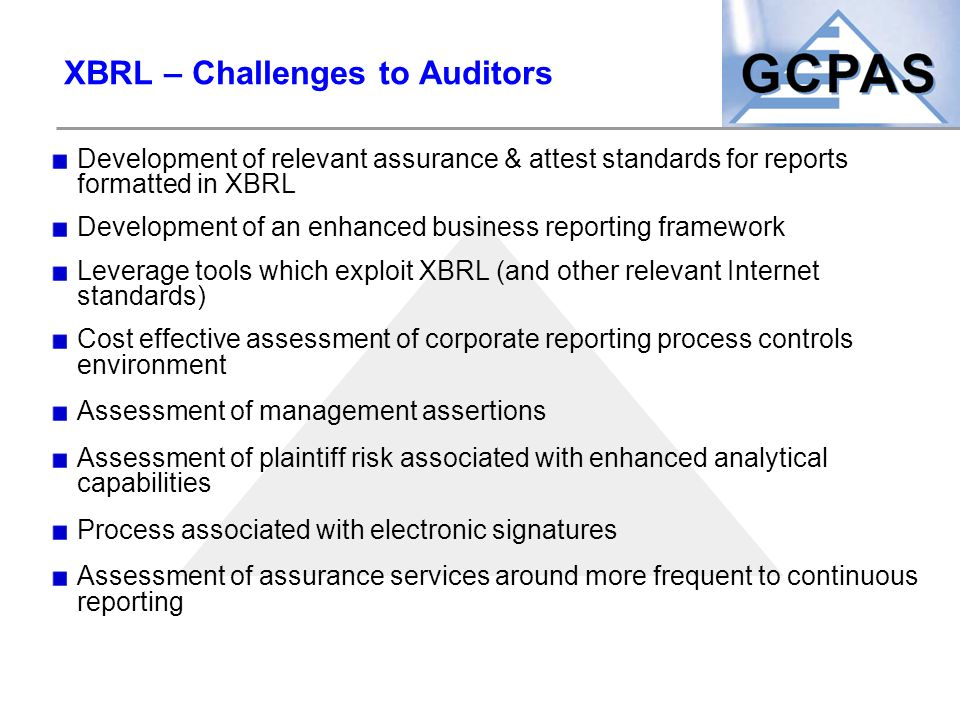 XBRL – Challenges to Auditors