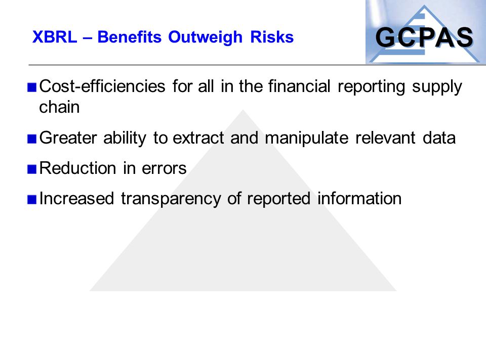 XBRL – Benefits Outweigh Risks
