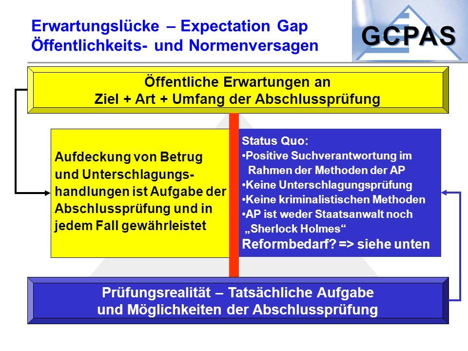 Erwartungslücke – Expectation Gap Öffentlichkeits- und Normenversagen