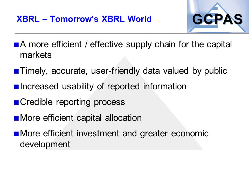XBRL – Tomorrow's XBRL World