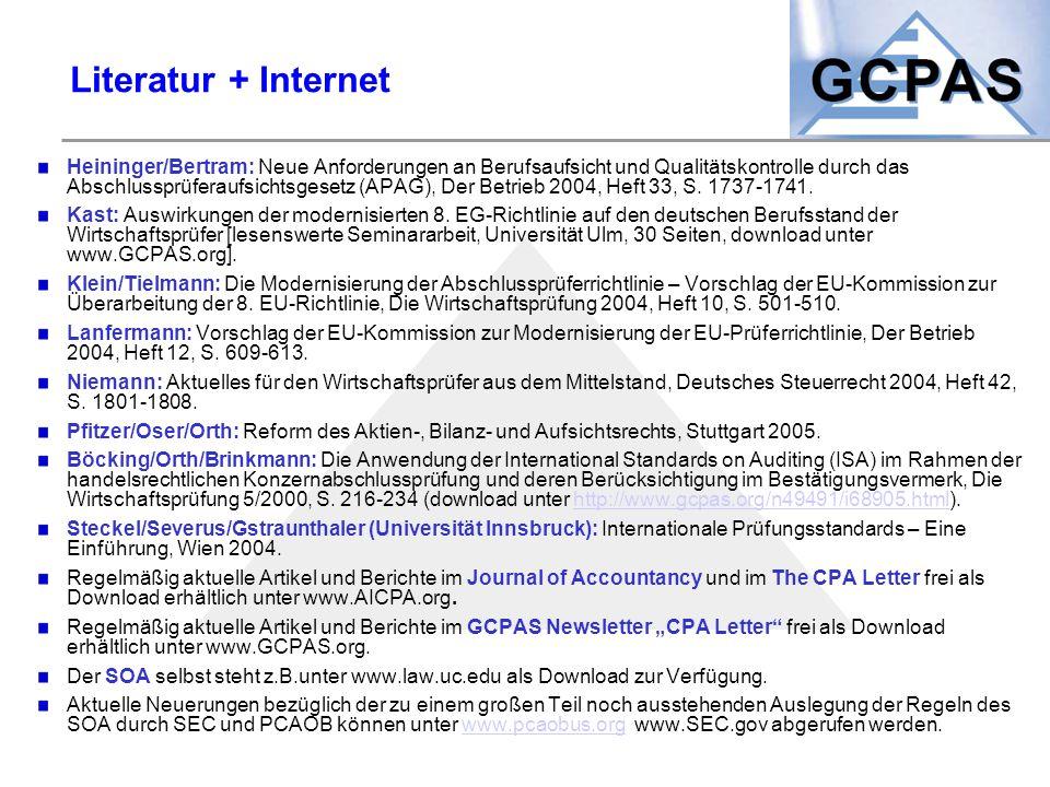 Literatur + Internet