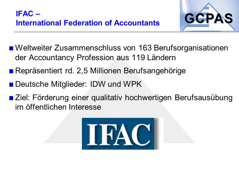 IFAC – International Federation of Accountants