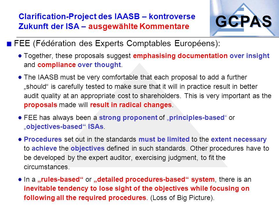 FEE (Fédération des Experts Comptables Européens):