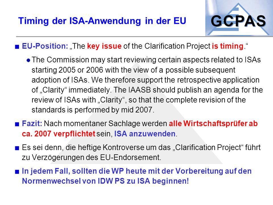 Timing der ISA-Anwendung in der EU