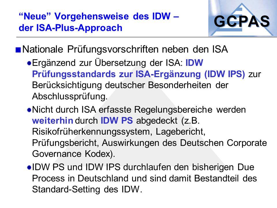 Neue Vorgehensweise des IDW – der ISA-Plus-Approach