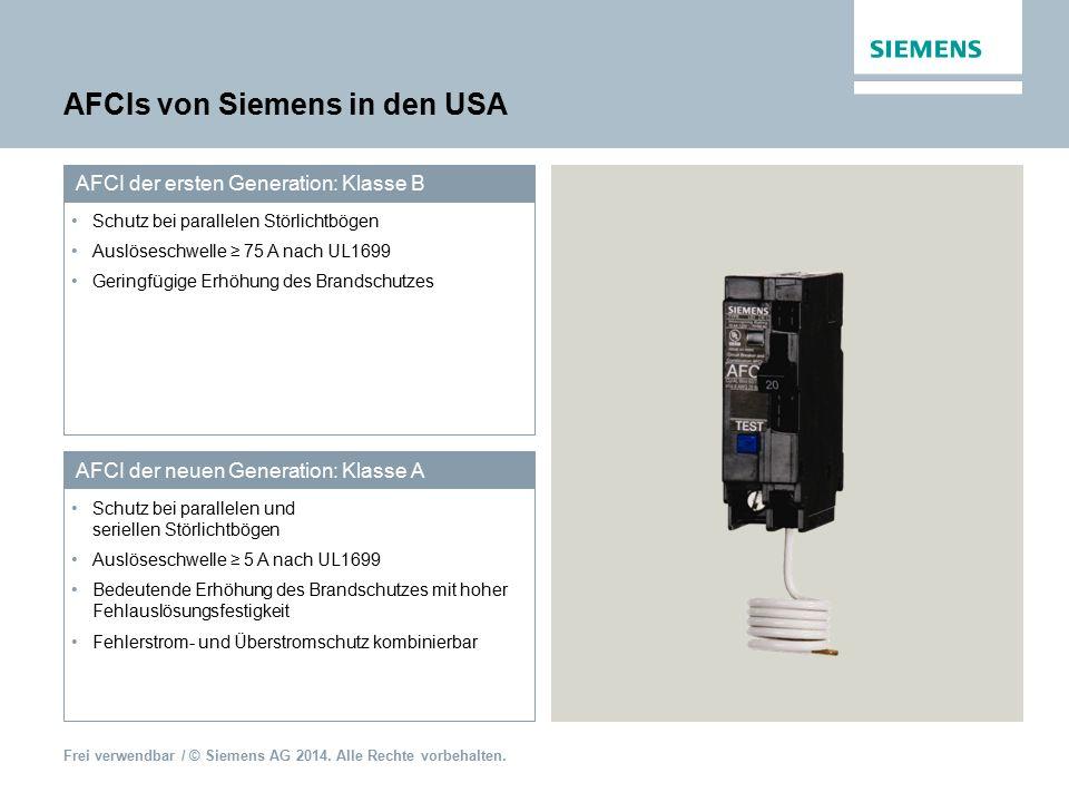 AFCIs von Siemens in den USA